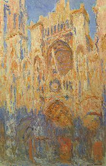 220px-Claude_Monet_-_Rouen_Cathedral,_Facade_(Sunset)